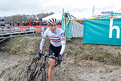 Helen Wyman (GBR), Women Elite, Cyclo-cross Superprestige #8 Middelkerke, Belgium, 14 February 2015, Photo by Paul Burgoine / PelotonPhotos.com