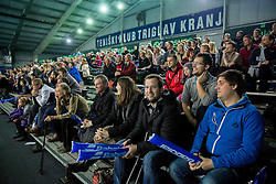 Fans during 1st match of Davis cup Slovenia vs. Portugal on January 31, 2014 in Kranj, Slovenia. Photo by Vid Ponikvar / Sportida