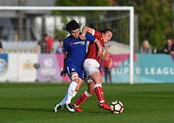 Chloe Arthur of Bristol City Women battles with Ji So-Yun of Chelsea - Mandatory by-line: Paul Knight/JMP - 15/05/2018 - FOOTBALL - Stoke Gifford Stadium - Bristol, England - Bristol City Women v Chelsea Ladies - FA Women's Super League 1