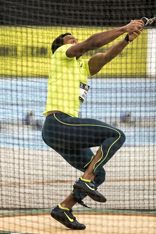 USATF Indoor Track & Field Championships: mens weight throw, Kibwe Johnson, Nike, NYAC