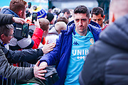 Leeds United midfielder Pablo Hernandez (19) arrives at the ground during the EFL Sky Bet Championship match between Leeds United and Sheffield Wednesday at Elland Road, Leeds, England on 11 January 2020.