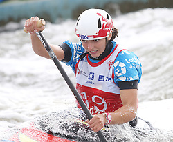 July 1, 2018 - Krakow, Poland - 2018 ICF Canoe Slalom World Cup 2 in Krakow. Day 2. On the picture: KLARA OLAZABAL (Credit Image: © Damian Klamka via ZUMA Wire)