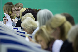 © Licensed to London News Pictures . 20/11/2014 . Kent , UK . The first ballots are tipped on to tables and counted . The count for the Rochester and Strood by-election , following the defection of sitting MP Mark Reckless from Conservative to UKIP . Photo credit : Joel Goodman/LNP