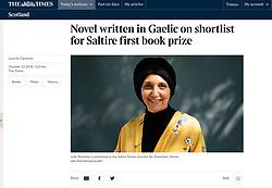 The Times; Author Leila Aboulela