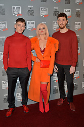 © Licensed to London News Pictures. 26/10/2017. London, UK. Clean Bandit attends the Kiss House Party Live event at the SSE Wembley Arena. Photo credit: Ray Tang/LNP