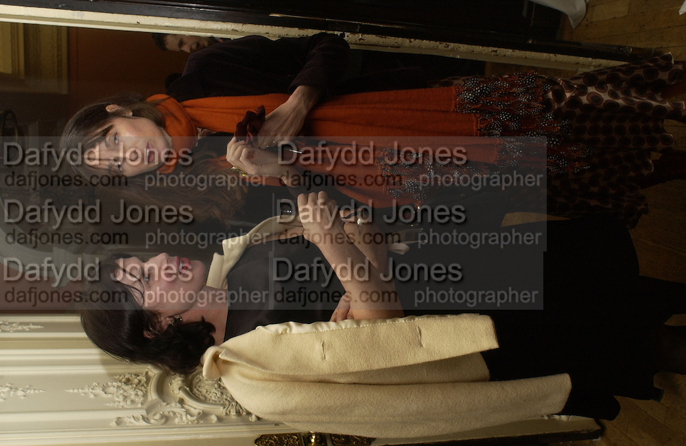 Laura Faber and India Jane Birley, Catherine de Medici by Leonie Frieda book party, English Speaking Union. 3 February 2004. © Copyright Photograph by Dafydd Jones 66 Stockwell Park Rd. London SW9 0DA Tel 020 7733 0108 www.dafjones.com
