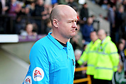 Under fire referee Lee Mason before the EFL Sky Bet League 2 match between Notts County and Mansfield Town at Meadow Lane, Nottingham, England on 16 February 2019.