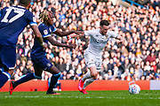 Leeds United midfielder Jack Harrison (22) in action during the EFL Sky Bet Championship match between Leeds United and Huddersfield Town at Elland Road, Leeds, England on 7 March 2020.