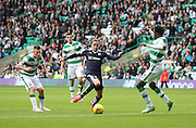 Dundee&rsquo;s Nick Ross takes on Celtic&rsquo;s Efe Ambrose  - Celtic v Dundee - Ladbrokes Premiership at Celtic Park<br /> <br /> <br />  - &copy; David Young - www.davidyoungphoto.co.uk - email: davidyoungphoto@gmail.com