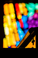 The stand and Lutheran Service Book: Altar Book on Wednesday, May 13, 2020, at St. Paul's Lutheran Church, Columbia, Ill. LCMS Communications/Erik M. Lunsford