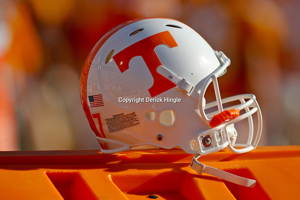 Oct 2, 2010; Baton Rouge, LA, USA; A Tennessee Volunteers helmet is seen during the second half of a game against the LSU Tigers at Tiger Stadium. LSU defeated Tennessee 16-14.  Mandatory Credit: Derick E. Hingle