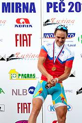 Winner Borut Bozic of Astana after Slovenian National Championship Mirna Pec 2012, on June 24, 2012, in Mirna Pec, Slovenia. (Photo by Urban Urbanc / Sportida.com)