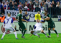 Martin Jakubko vs Marko Suler at  the 2010 FIFA World Cup South Africa Qualifying match between Slovakia and Slovenia, on October 10, 2009, Tehelne Pole Stadium, Bratislava, Slovakia. Slovenia won 2:0. (Photo by Vid Ponikvar / Sportida)