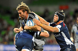 Jason Eaton (HUR).Melbourne Rebels v The Hurricanes.Rugby Union - 2011 Super Rugby.AAMI Park, Melbourne VIC Australia.Friday, 25 March 2011.© Sport the library / Jeff Crow