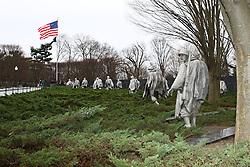 THEMENBILD - Die Figuren des Korean War Veterans Memorial stellen eine Squad auf Patrouille dar, in der jede Gattung der US-Streitkraefte vertreten ist. Reisebericht, aufgenommen am 12. Jannuar 2016 in Washington D.C. // The figures of the Korean War Veterans Memorial put a squad on patrol represents, in respect of each class of the US armed forces is represented. Travelogue, Recorded January 12, 2016 in Washington DC. EXPA Pictures © 2016, PhotoCredit: EXPA/ Eibner-Pressefoto/ Hundt<br /> <br /> *****ATTENTION - OUT of GER*****