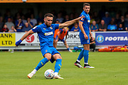 AFC Wimbledon defender Luke O'Neill (2) passing the ball during the EFL Sky Bet League 1 match between AFC Wimbledon and Accrington Stanley at the Cherry Red Records Stadium, Kingston, England on 17 August 2019.