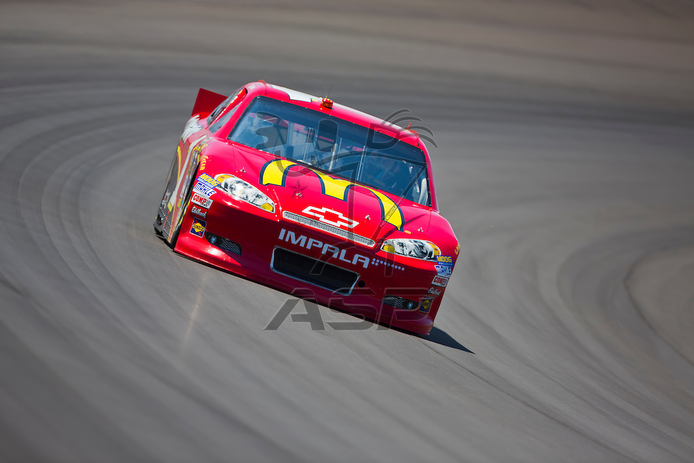 BROOKLYN, MI - JUN 14, 2012:  Jamie McMurray (1) brings his car through the turns during the second test session for the Quicken Loans 400 at the Michigan International Speedway in Brooklyn, MI.