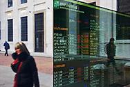 Bank stock infos inMilan, Italy.