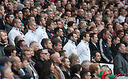 Twickenham, Great Britain, England coaching team, in the stand.  QBE Autumn Internationals, England vs New Zealand, RFU Stadium Twickenham, Surrey.  Saturday  08/11/2014 [Mandatory Credit; Peter SPURRIER/Intersport Images]