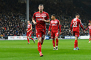 Paddy McNair (17) of Middlesbrough during the EFL Sky Bet Championship match between Queens Park Rangers and Middlesbrough at the Kiyan Prince Foundation Stadium, London, England on 9 November 2019.