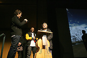 "Michele Gondry and Jack Black and MOS DEF attend the screening of their new film, ""Be Kind Rewind"" starring Jack Black, Danny Glover and Melanie Diaz at the 2008 Sundance Film Festival."