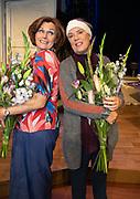 2018, September 24. Schouwburg Amstelveen. Premiere van Kunst en Kitsch. Op de foto: Liz Snoijink en Raymonde de Kuyper