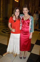LULU GUINNESS and her daughter     at a party to celebrate the publication of  'Put On Your Pearl Girls!' by Lulu Guinness held at the V&A museum, London on 5th May 2005.<br /><br />NON EXCLUSIVE - WORLD RIGHTS