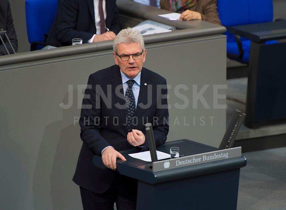 DEU, Deutschland, Germany, Berlin, 15.03.2018: Artur Auernhammer (CSU) bei einer Rede im Deutschen Bundestag.