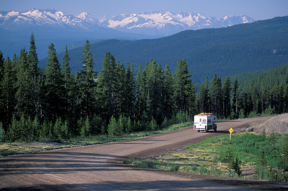 Camper,Highway 20, Coast Mountains, British Columbia,Canada