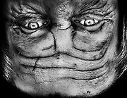 """Alienation: Upside-Down Portraits Make People Look Like Aliens<br /> <br /> This latest photo series by Anelia Loubser, a photographer in Cape Town, reminds us that even the simplest change in perspective can change how things look drastically. By selectively cropping and flipping the dark portraits in her """"Alienation"""" series, Loubser makes basic human portraits look like creepy alien close-ups.<br /> <br /> """"'Alienation' is a collection of portraits that challenges the viewer by using creative tactics based on the concept, 'If you change the way you look at things, the things you look at change' – Wayne Dyer,"""" Loubser explains.<br /> ©Anelia Loubser/Exclusivepix"""