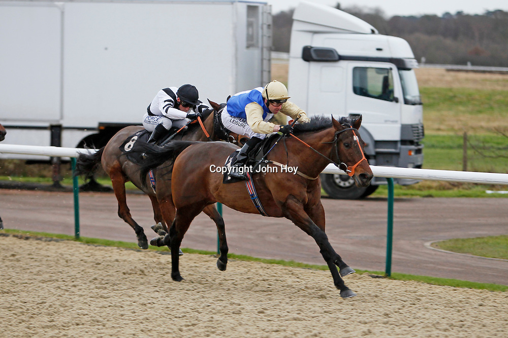 Temple Road and Robert Winston winning the 12.00 race