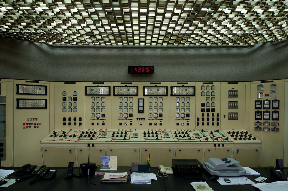 Control room at Akosombo dam 2011