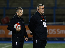 Head Coach Rowland Phillips of Wales Women during the pre match warm up<br /> <br /> Photographer Simon King/Replay Images<br /> <br /> Friendly - Wales Women v Hong Kong Women - Friday  16th November 2018 - Cardiff Arms Park - Cardiff<br /> <br /> World Copyright © Replay Images . All rights reserved. info@replayimages.co.uk - http://replayimages.co.uk