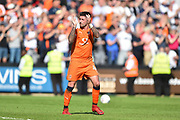 Luton Town defender Alan Sheehan (44) applauds the Notts County supporters during the EFL Sky Bet League 2 match between Notts County and Luton Town at Meadow Lane, Nottingham, England on 5 May 2018. Picture by Jon Hobley.