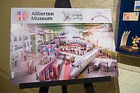 DEU, Deutschland, Germany, Berlin, 11.05.2019: Diese Computersimulation im Alliiertenmuseum in der Clayallee zeigt den geplanten neuen Ausstellungsort des Alliiertenmuseums in Hangar 6 des Flughafen Tempelhof.