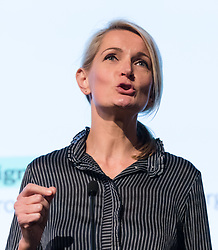 © Licensed to London News Pictures. 15/05/2017. LONDON, UK.  SOPHIE WALKER, leader of the Women's Equality Party speaking at the Progressive Alliance launch in London. The Progressive Alliance is a cross political party group who are campaigning against the Tories and encouraging tactical voting in the general election.  Photo credit: Vickie Flores/LNP