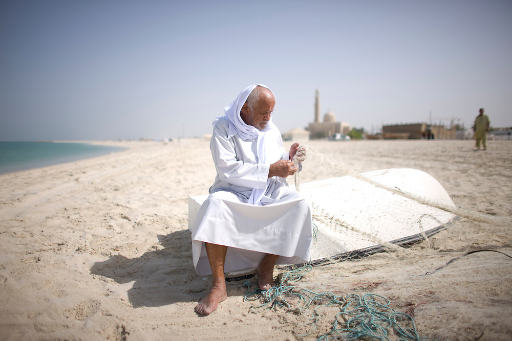 Dubai . .Dubai fisherman  has been  fishing near this beach for more then 80 years.