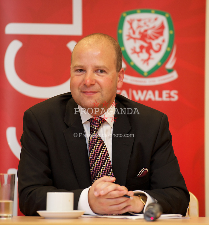 NEWPORT, WALES - Wednesday, July 4, 2012: FAW Chief Executive Jonathan Ford at a press conference as the Football Association of Wales opens the first 3G pitch at the National Development Centre at the Newport International Sports Village. (Pic by David Rawcliffe/Propaganda)