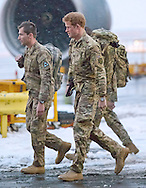 "23.01.2013, RAF Brize Norton, UK: PRINCE HARRY.arrives at RAF Brize Norton, following his tour of duty in Afghanistan..Harry (sporting a Rolex Watch) spent a few days in Cyprus before returning to the UK..Mandatory Credit Photo: ©Crouch/NEWSPIX INTERNATIONAL..**ALL FEES PAYABLE TO: ""NEWSPIX INTERNATIONAL""**..IMMEDIATE CONFIRMATION OF USAGE REQUIRED:.Newspix International, 31 Chinnery Hill, Bishop's Stortford, ENGLAND CM23 3PS.Tel:+441279 324672  ; Fax: +441279656877.Mobile:  07775681153.e-mail: info@newspixinternational.co.uk"