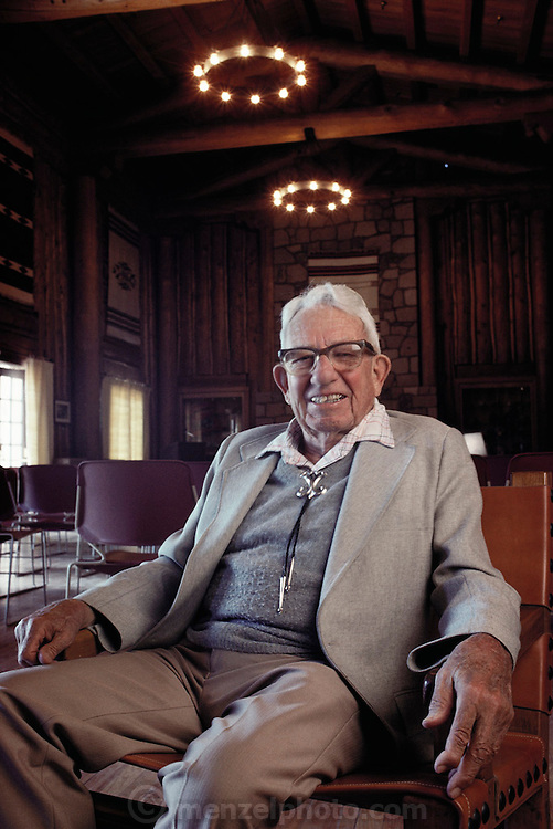 John Manley - assistant to Oppenheimer for the Manhattan Project. Photographed in one of the original boy's camp lodges in Los Alamos, New Mexico, (1988) The Manhattan Project refers to the effort during World War II by the United States, in collaboration with the United Kingdom, Canada, and other European physicists, to develop the first nuclear weapons. Formally designated as the Manhattan Engineering District (MED), it refers specifically to the period of the project from 1942-1946 under the control of the U.S. Army Corps of Engineers, under the administration of General Leslie R. Groves, with its scientific research directed by the American physicist J. Robert Oppenheimer. The project succeeded in developing and detonating three nuclear weapons in 1945. MODEL RELEASED