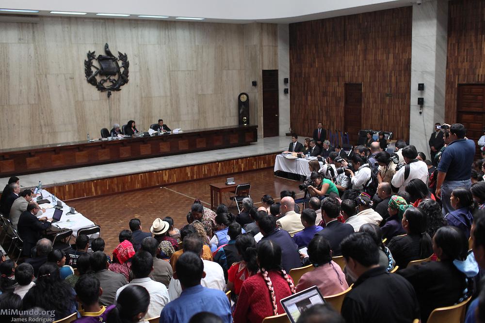 Rios Montt Genocide Trial. Guatemala, Guatemala. March 19, 2013.