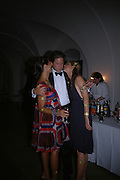 Charlotte Stockdale, James Corsellis and Georgie Leatham, Connaught Square Squirrel Hunt Inaugural Hunt Ball. Banqueting House, Whitehall. 8 September 2005. ONE TIME USE ONLY - DO NOT ARCHIVE  © Copyright Photograph by Dafydd Jones 66 Stockwell Park Rd. London SW9 0DA Tel 020 7733 0108 www.dafjones.com