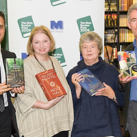 LONDON, ENGLAND - OCTOBER Four of the five Man Booker Prize shortlisted authors (L-R) Adam Foulds with his book The Quickening Maze, Hilary Mantel with her book Wolf Hall, A S Byatt with her book The Children's Book and Simon Mawer with his book The Glassroom at Hatchards in Piccadilly, ahead of the Man Booker Prize 2009 on October 5, 2009 in London, England....***Agreed Fee's Apply To All Image Use***.Marco Secchi /Xianpix. tel +44 (0) 771 7298571. e-mail ms@msecchi.com .www.marcosecchi.com