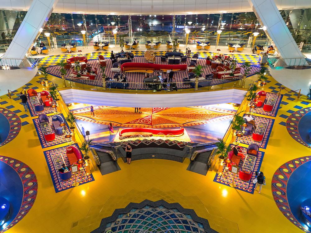 Burj Al Arab, Dubai. Consistently voted the world's most luxurious hotel.