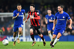 December 20, 2017 - London, England, United Kingdom - Chelsea Midfielder Danny Drinkwater and Bournemouth's Adam Smith during the Carabao Cup Quarter - Final match between Chelsea and AFC Bournemouth at Stamford Bridge, London, England on 20 Dec 2017. (Credit Image: © Kieran Galvin/NurPhoto via ZUMA Press)