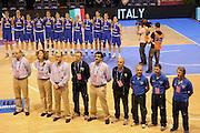 Vannes 17 Giugno 2013 <br /> Eurobasket Women 2013<br /> Italia - Russia<br /> Nella foto: team staff italia<br /> Foto Ciamillo