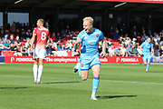 Ryan Broom celebrates his opening goal  during the EFL Sky Bet League 2 match between Salford City and Cheltenham Town at Moor Lane, Salford, United Kingdom on 14 September 2019.