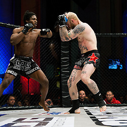GALORE BOFANDO LOOKS FOR A WAY PAST PETER IRVINGS DEFENCES - UCMMA 34 2 JUNE 2013