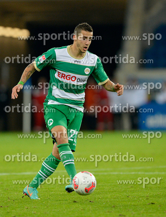20.10.2012, Rhein Neckar Arena, Sinsheim, GER, 1. FBL, TSG 1899 Hoffenheim vs SpVgg Greuther Fuerth, 8. Runde, im Bild Sercan SARARER SpVgg Greuther Fürth am Ball Freisteller, Einzelbild, Aktion // during the German Bundesliga 8th round match between TSG 1899 Hoffenheim and SpVgg Greuther Fuerth at the Rhein Neckar Arena, Sinsheim, Germany on 2012/10/20. EXPA Pictures © 2012, PhotoCredit: EXPA/ Eibner/ Weber..***** ATTENTION - OUT OF GER *****
