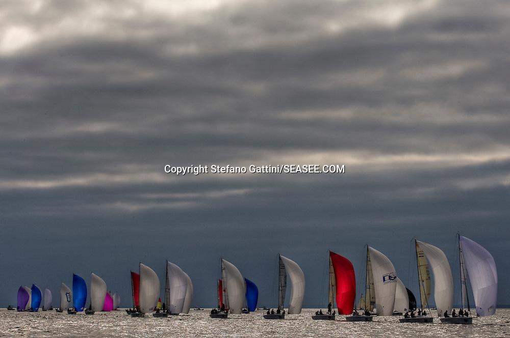 Annapolis, 27/10/09<br /> <br /> Melges 24 World Championship 2009<br /> <br /> Fleet.